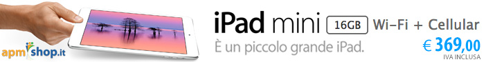 iPad mini 16GB Wi-Fi + Cellular in offerta