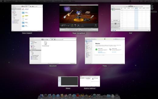 Un esempio di Exposé in Mac OsX