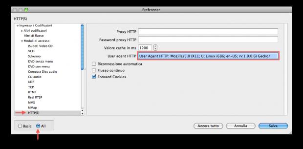 Ecco come impostare VLC per ingannare il sito RAI e vedere i contenuti in streaming