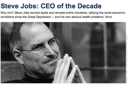 Steve Jobs miglior CEO della nostra Decade