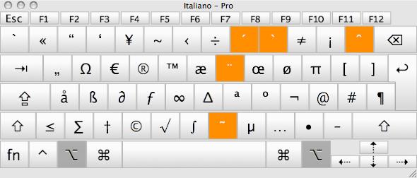 alt con il visore tastiera mostra tutti i caratteri speciali che possiamo ottenere