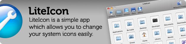 liteicon modificare le icone di sistema del mac
