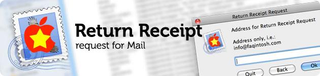 Richiesta di ricevuta di ritorno per Mac Mail