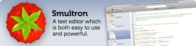 smultron editor di testi html, php, txt, css ed altro leggero veloce potente e semplice