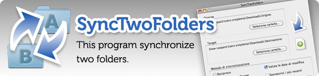 synctwofolders sincronizza due cartelle o realizza backup incrementali