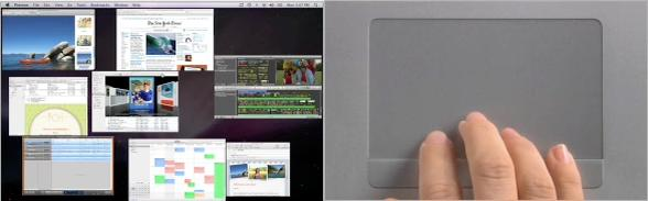 tutte le finestre con Apple Wireless e Trackpad multitouch MacBook