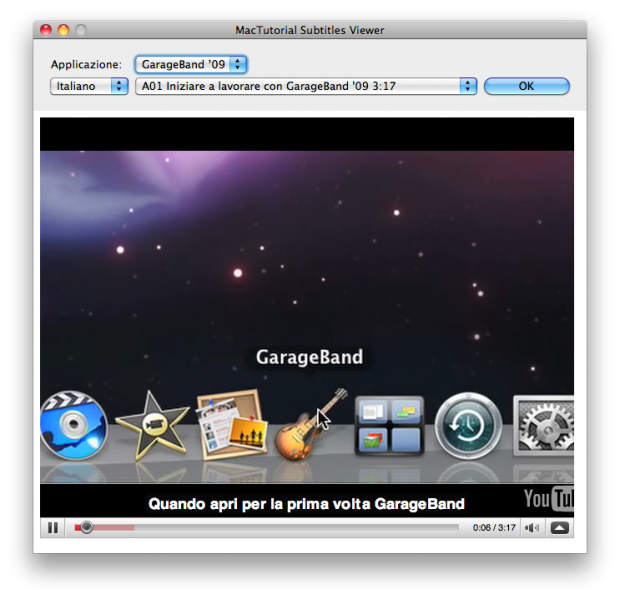 MacTutorial Viewer, permette ti vedere i tutorial video in Italiano di iLife e iWork