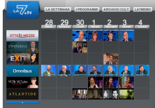 Scelta programmi su la7