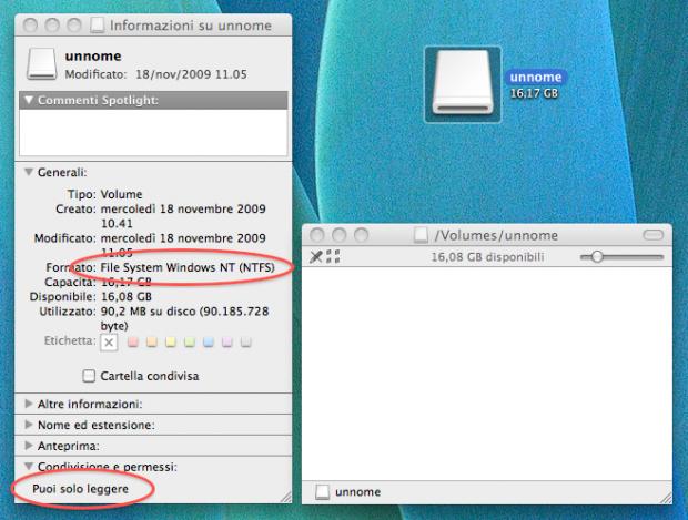 Leggere e scrivere drive NTFS con il Mac