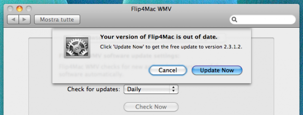 Aggiornamento Flip4Mac