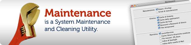 maintenance manutenzione di osx