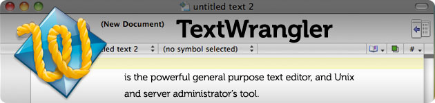 textwrangler powerful texteditor