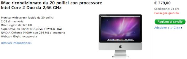 """iMac 20"""" in offerta speciale limitata"""