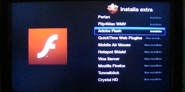 installazioni funzioni extra Apple TV con aTV flash, codec, flash, perian, flip4mac