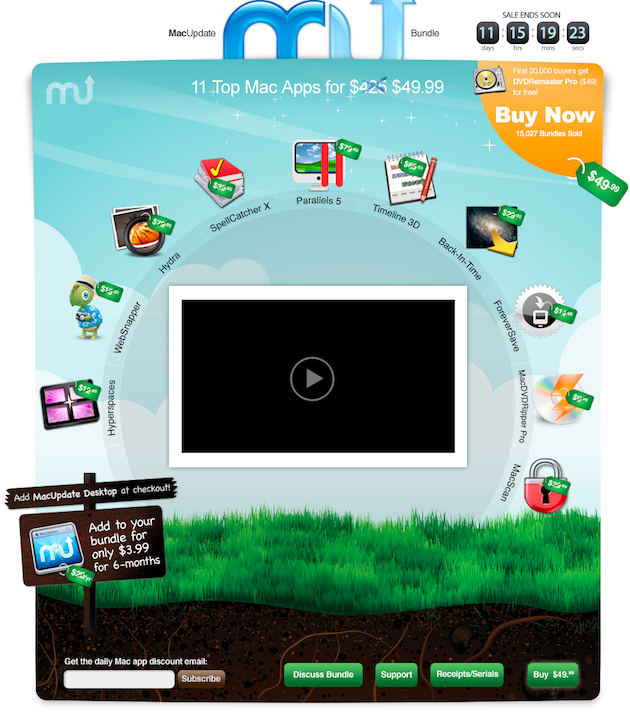 MacUpdate Promo Spring Bundle 2010 - 10 Great Apps for $49.99