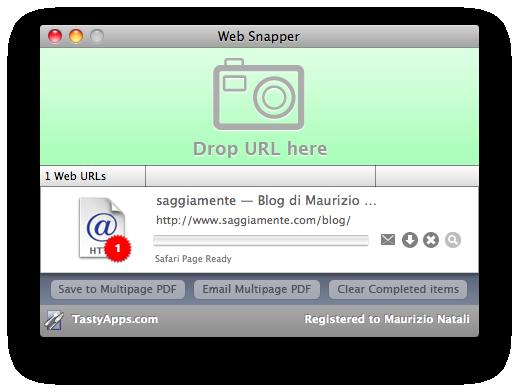 web snapper, un esempio dell'interfaccia semplice da usare