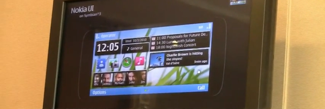 symbian 3 UI demo