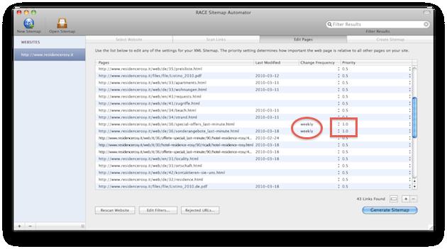 mac creare una sitemap con google sitemap automator