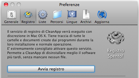 registro di cleanapp
