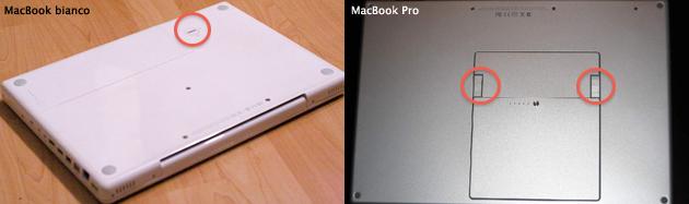 bottom case rimozione batteria MacBook Pro