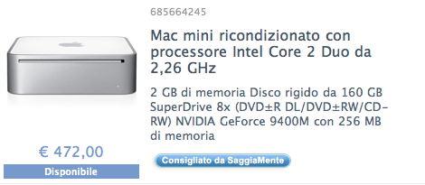 mac mini in offerta