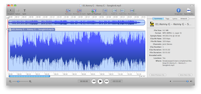 interfaccia editor audio mac fission