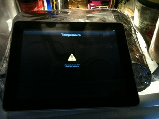 ipad hot temperature