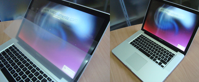 antiglare per display glossy del MacBook Pro