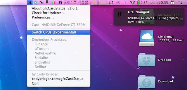 cambio scheda grafica nuovo macbook pro