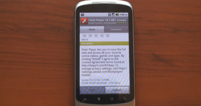 flash su android rallenta il browser