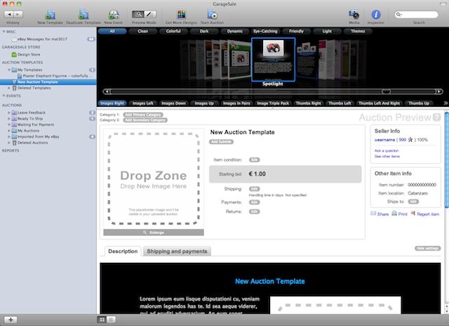 gestire aste ebay mac