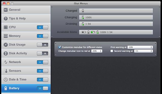istat menus 3 batteria