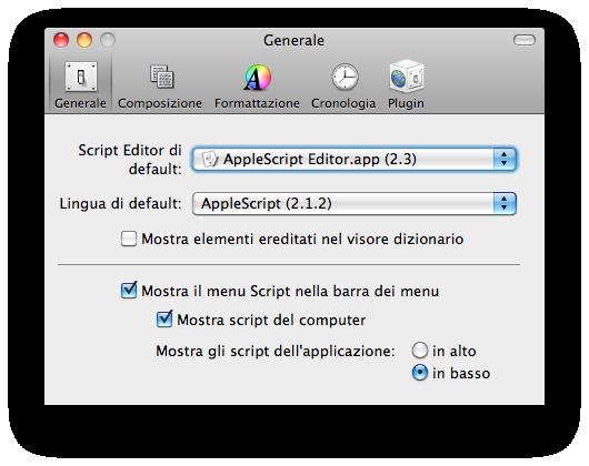 menu script