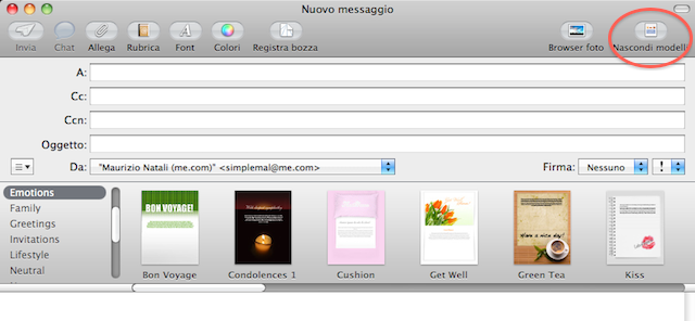 modelli mail mac