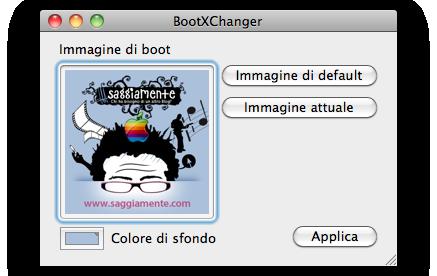 modificare immagine di avvio nel mac