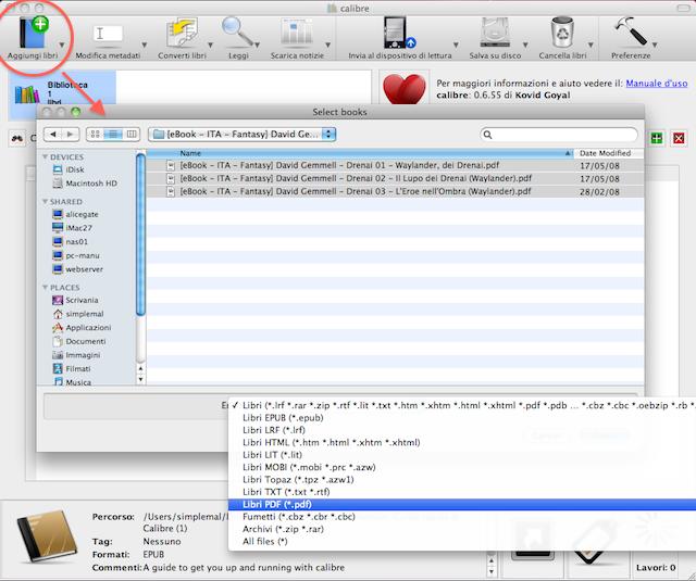 aggiungere ebook gratis ipad
