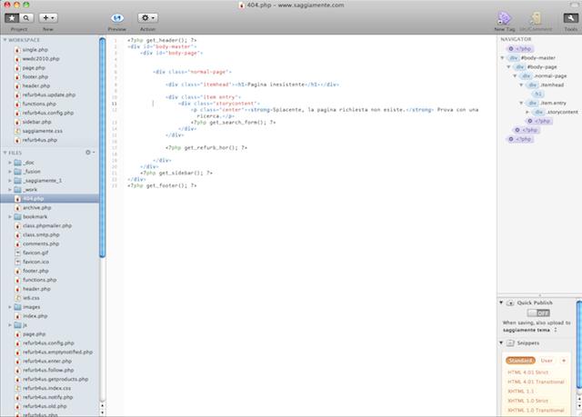 ambiente di sviluppo web per mac