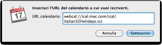 festività italiane in ical