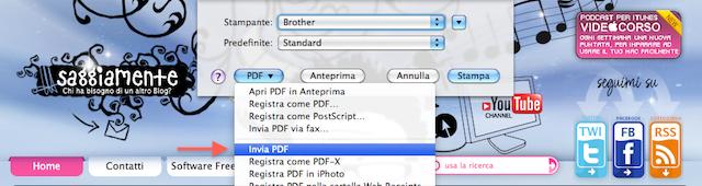 invia pdf via email
