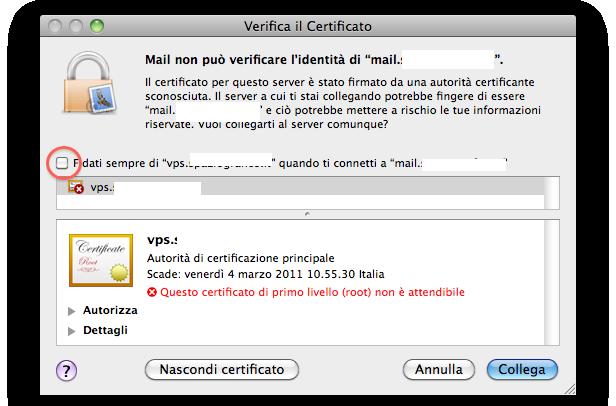 mail autenticazione identita server posta