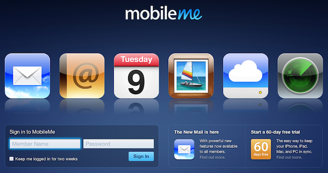 mobileme login