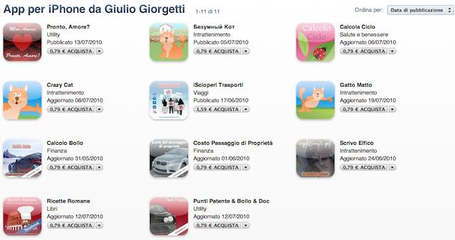 App per iPhone di Giulio Giorgettia
