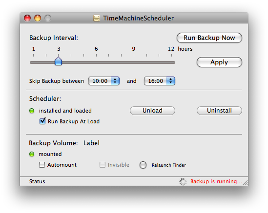 Modificare la frequenza di backup di Time Machine