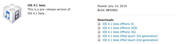 iOS 4.1 - 2