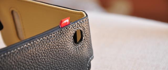 particolare custodia in pelle per iPhone 4