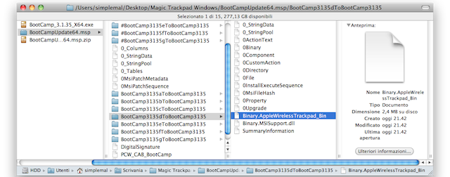 installazione magic trackpad windows