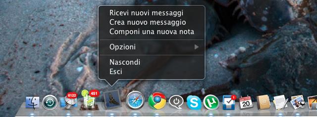 mail combinazioni tastiera
