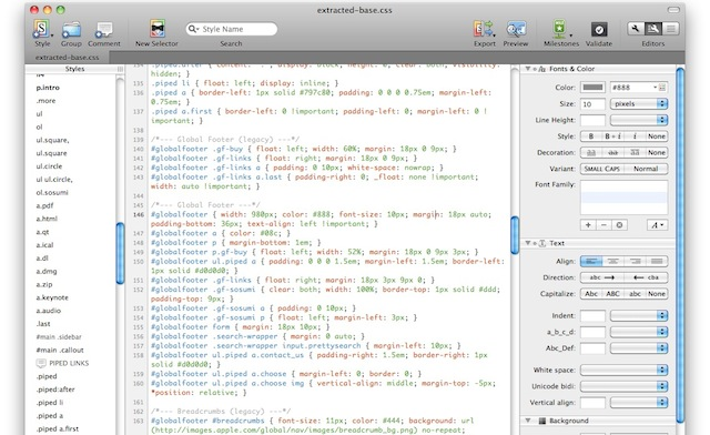 css editor per mac