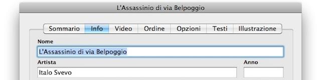modifica tag audiolibro