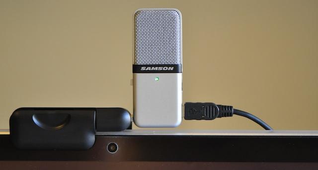 samson go mic schermo macbook